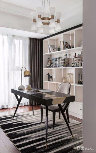 三居室欧式风格家书房布置图