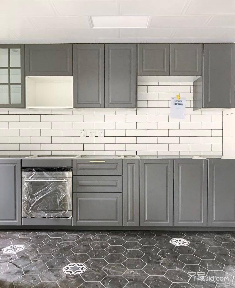 120平混搭风格装修厨房构造图