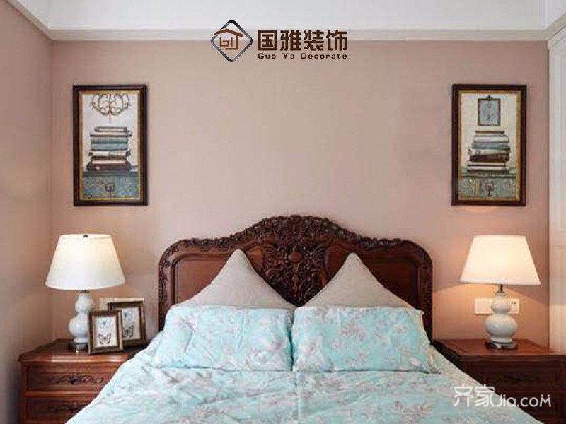 100㎡美式风格家卧室设计图
