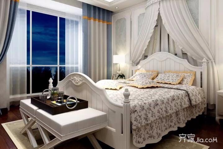 二居室欧式风格装修主卧效果图
