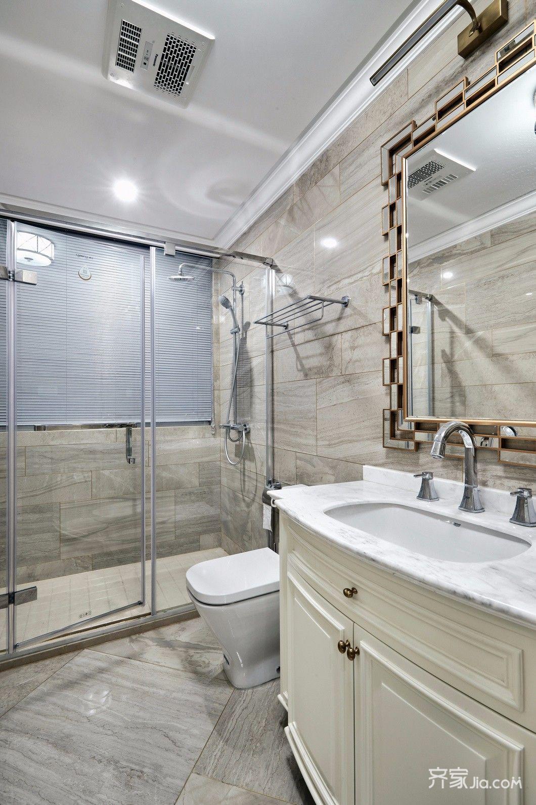 三居室现代简约家卫生间效果图
