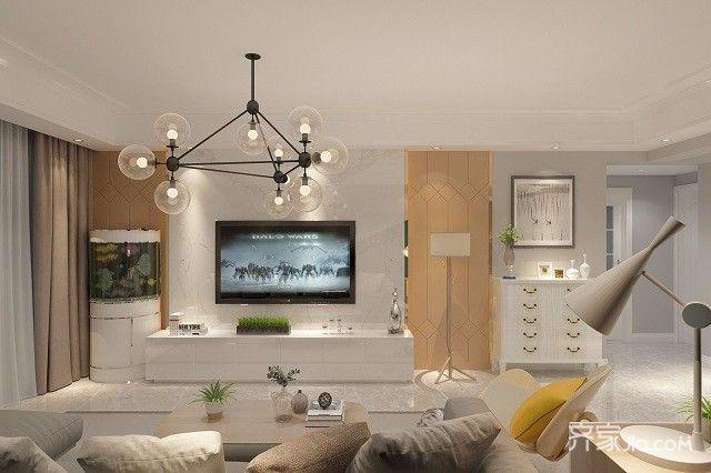 120㎡简约风格装修电视背景墙