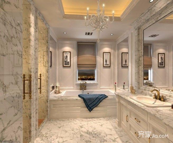 100平欧式风格装修卫生间装潢图