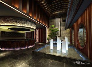 680平中式工装茶楼大堂装潢图