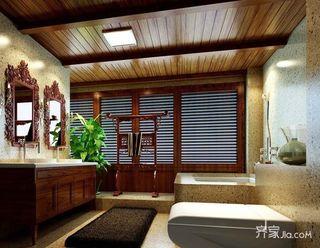 680平中式工装茶楼卫生间设计图