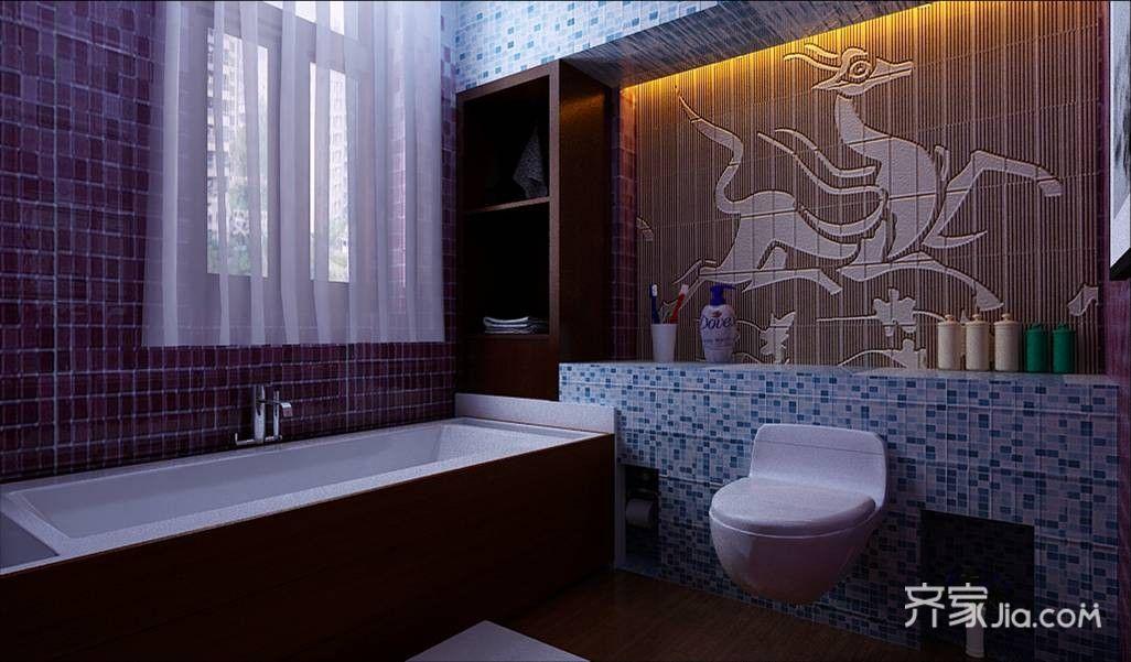 大户型中式风格设计卫生间装潢图