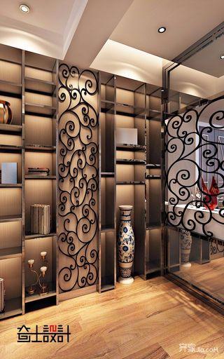 120平现代奢华风装修客厅装饰柜