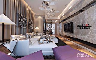 120平现代奢华风装修客厅全景