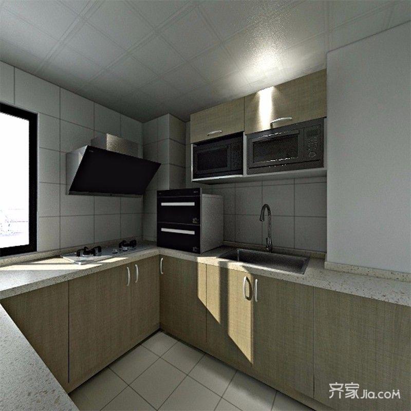 简约三居室装修厨房构造图