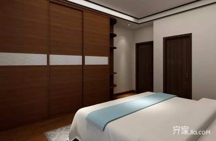 40平中式风格装修卧室衣柜