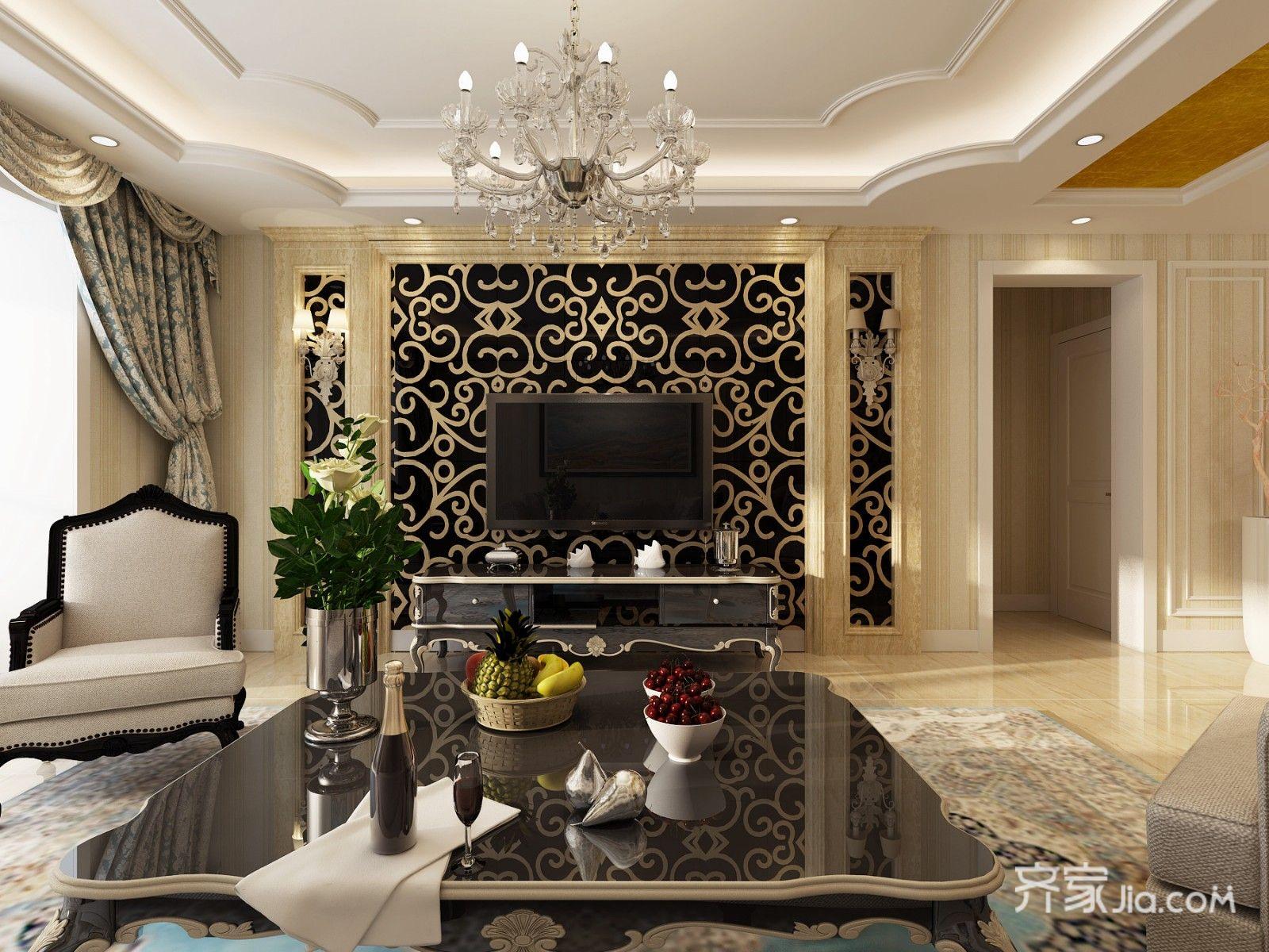 大户型欧式风格家客厅效果图