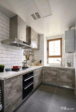 140平简约风格家厨房构造图