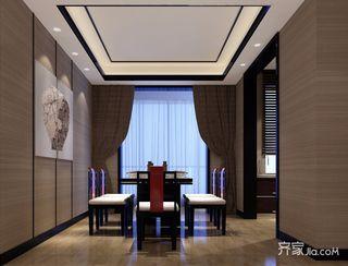 120㎡中式装修设计餐厅布置图