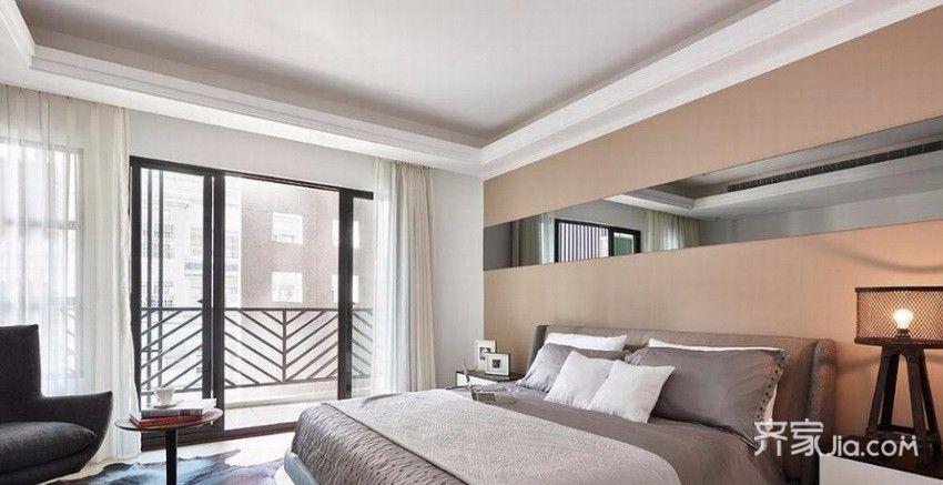 105平简约风格家卧室设计图