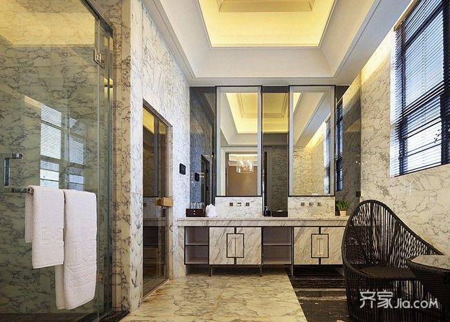 皇家气质的欧式别墅卫生间装潢图片