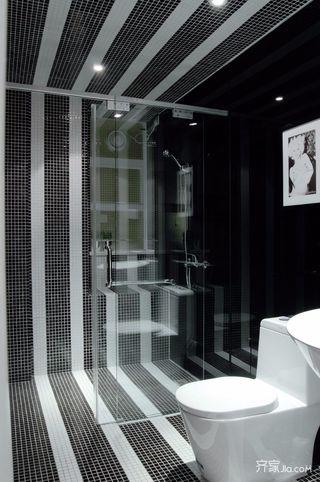 130平简约风格装修卫浴间装潢图
