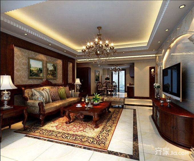 成功人士的欧式风格家客厅效果图