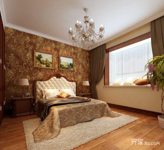 成功人士的欧式风格家卧室装潢图