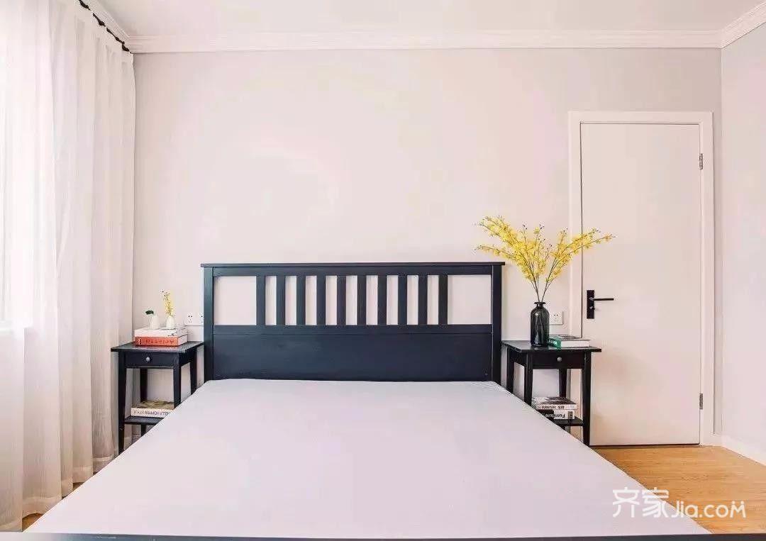 80平简约风之家卧室设计图