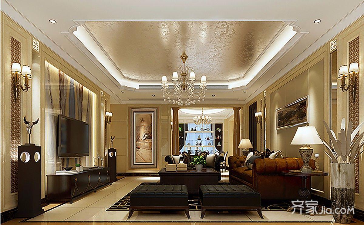 大户型古典风装修客厅欣赏图