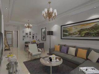 都市白领的简约风之家客厅实景图
