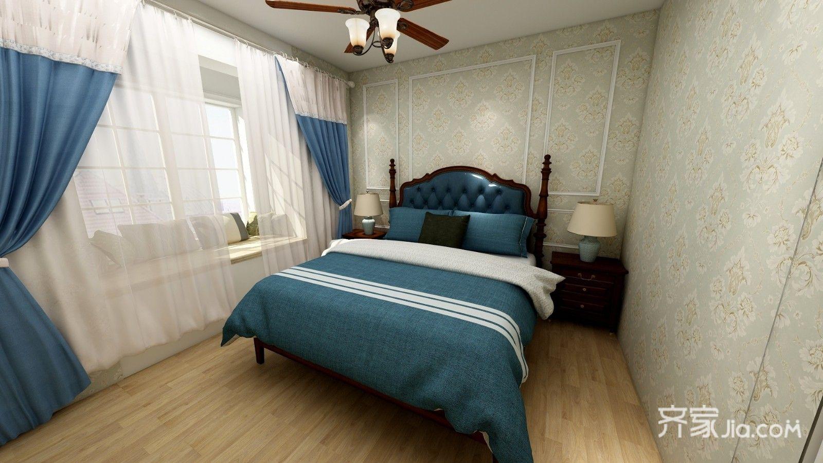 110平米美式风格家卧室设计图