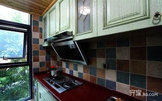 120平米三居室装修厨房实景图
