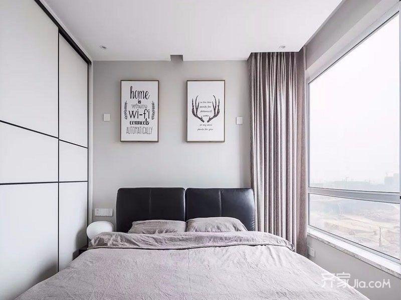 80平简约三居室装修卧室设计图