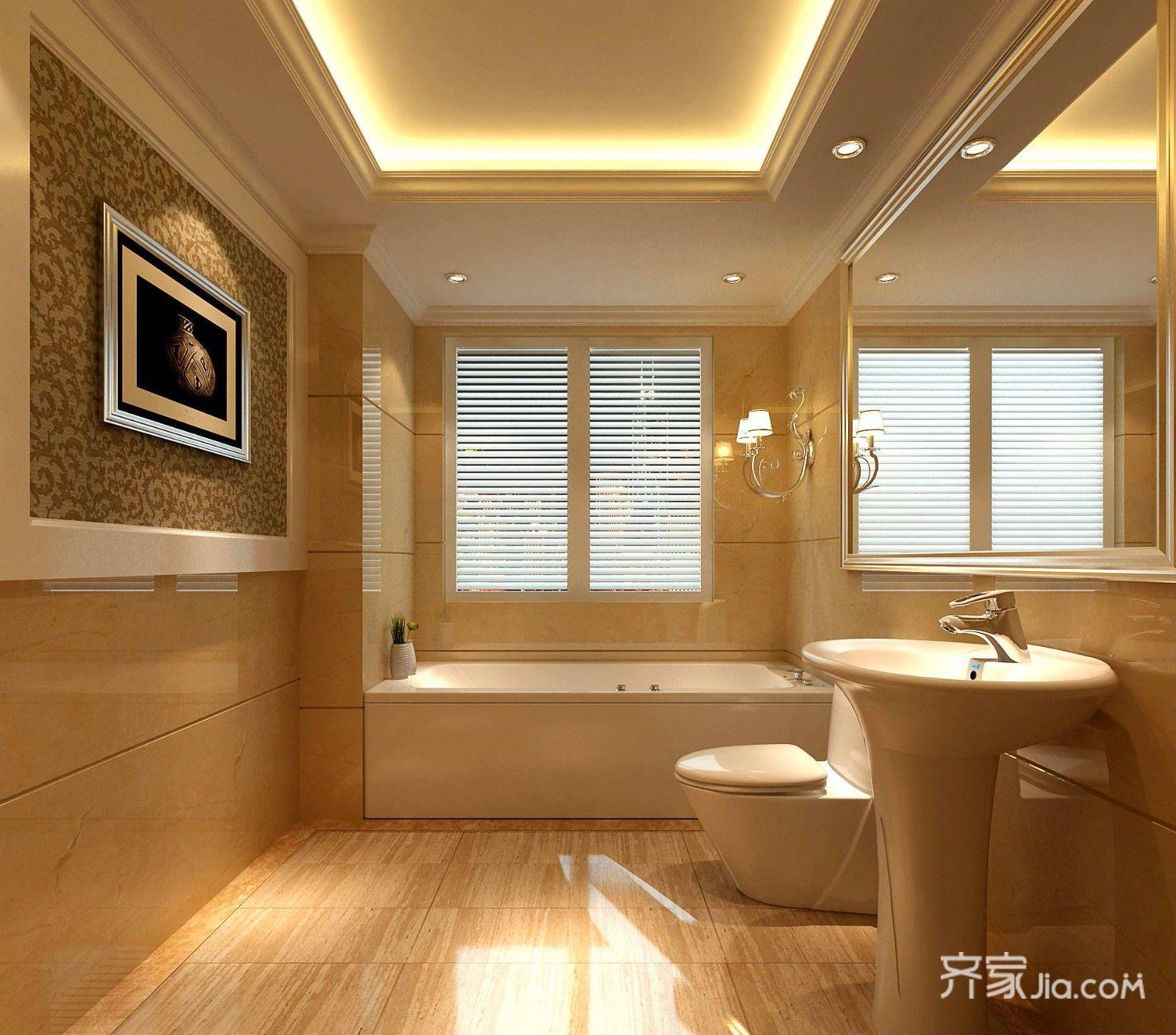 130平米三居室装修卫生间效果图