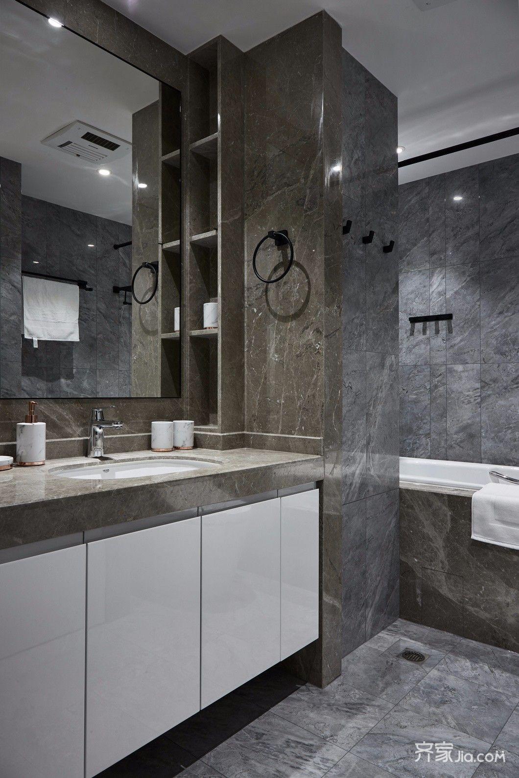现代简约风格装修卫生间装潢图