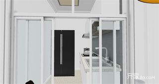 40平现代简约风格家 三口之家的理想基地