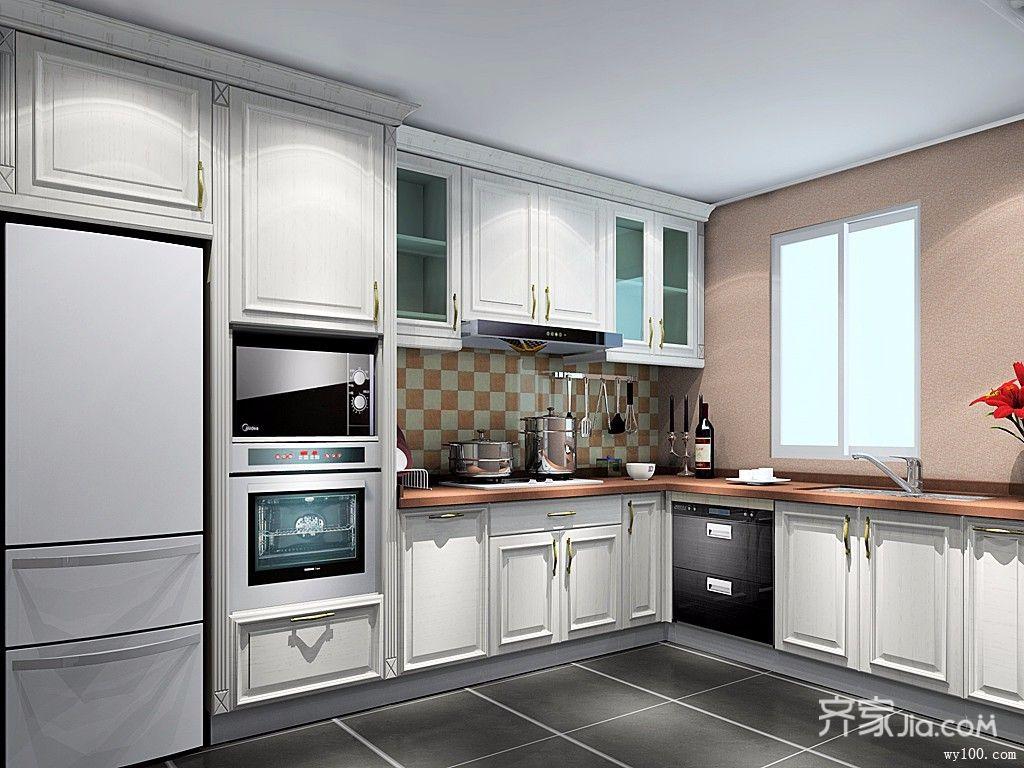 166平法式改欧式厨房构造图