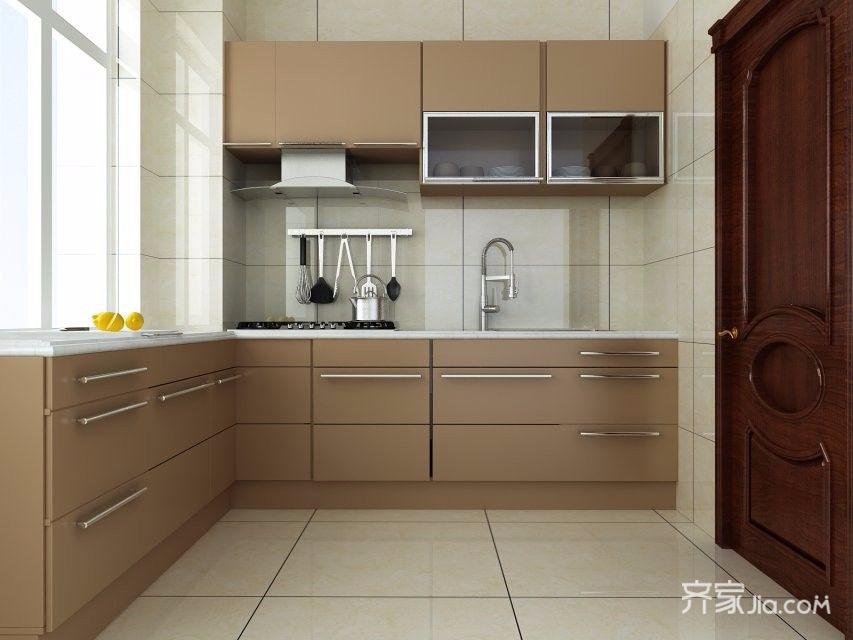 100㎡简欧风格装修厨房设计图