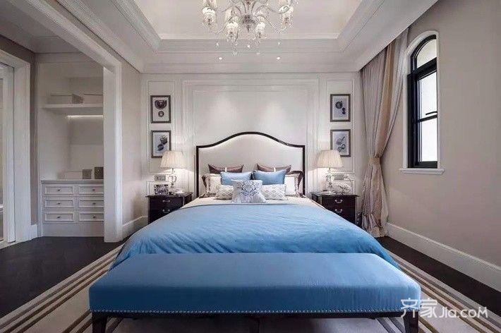 美式风格四房装修卧室效果图