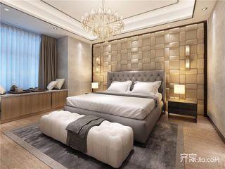 现代简约别墅装修卧室布置图