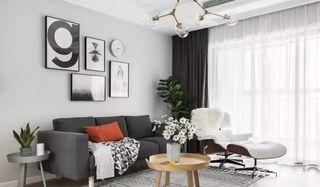 125平宜家风格三居室装修背景墙效果图