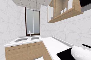 96平米简约风格二居室装修厨房参考图