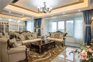 145平米法式风格四房装修客厅设计图