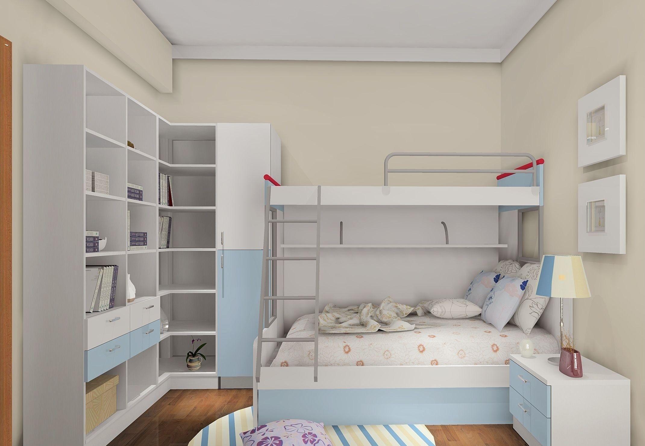 实用又好看的双人儿童房,值得你家宝宝拥有