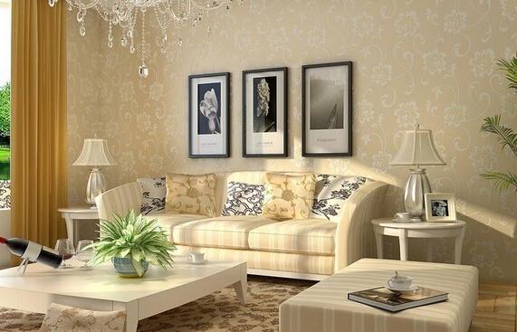 无纺布墙纸 儿童房客厅卧室月光森林壁纸 价格大约是40元/卷.