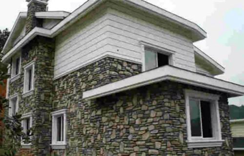 农村别墅外墙装修效果图 外墙用真石漆还是瓷砖