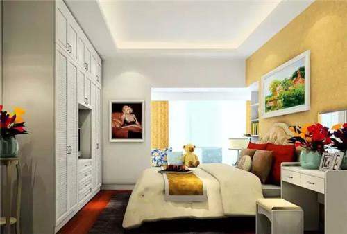 家装空间 > 主卧飘窗设计效果图 让室内储物空间更强大  图中的卧室给