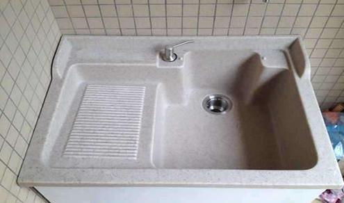 阳台洗衣池效果图