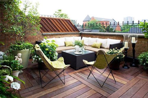 露天阳台设计效果图 为你添置一个休息的场所图片