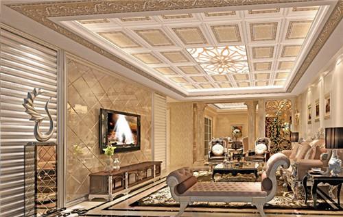 客厅装修吊顶用哪个材料好 -软膜天花图片