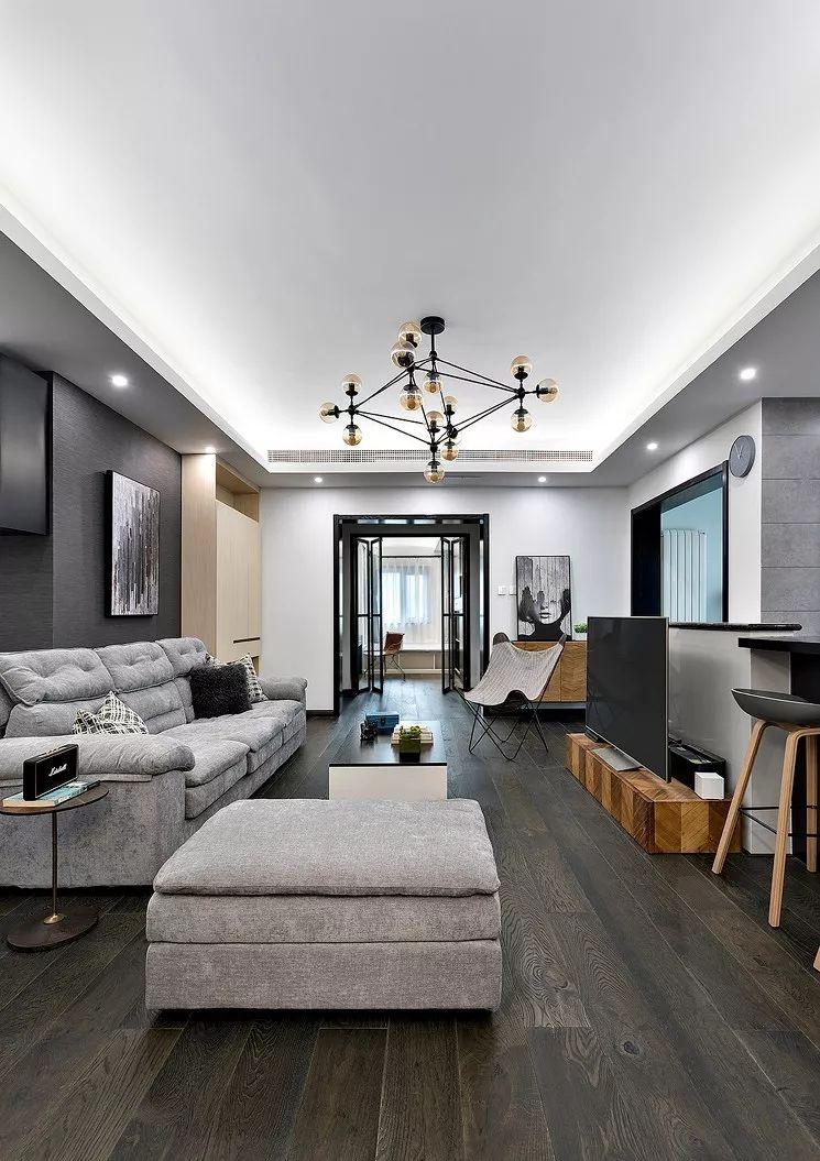 170㎡现代简约风黑白灰设计 打造高级时尚空间!