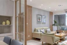 北欧简约风格装修案例 三居室设计简约而自然