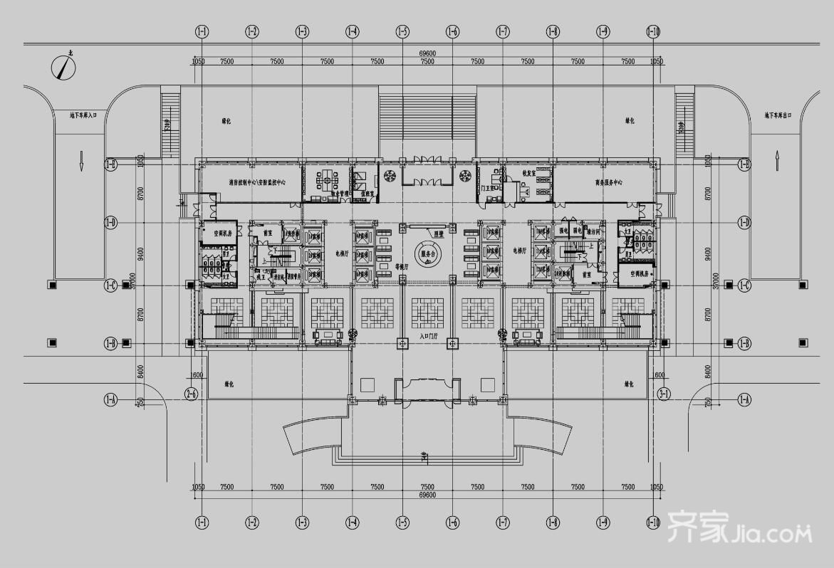 环球中心办公室装修案例