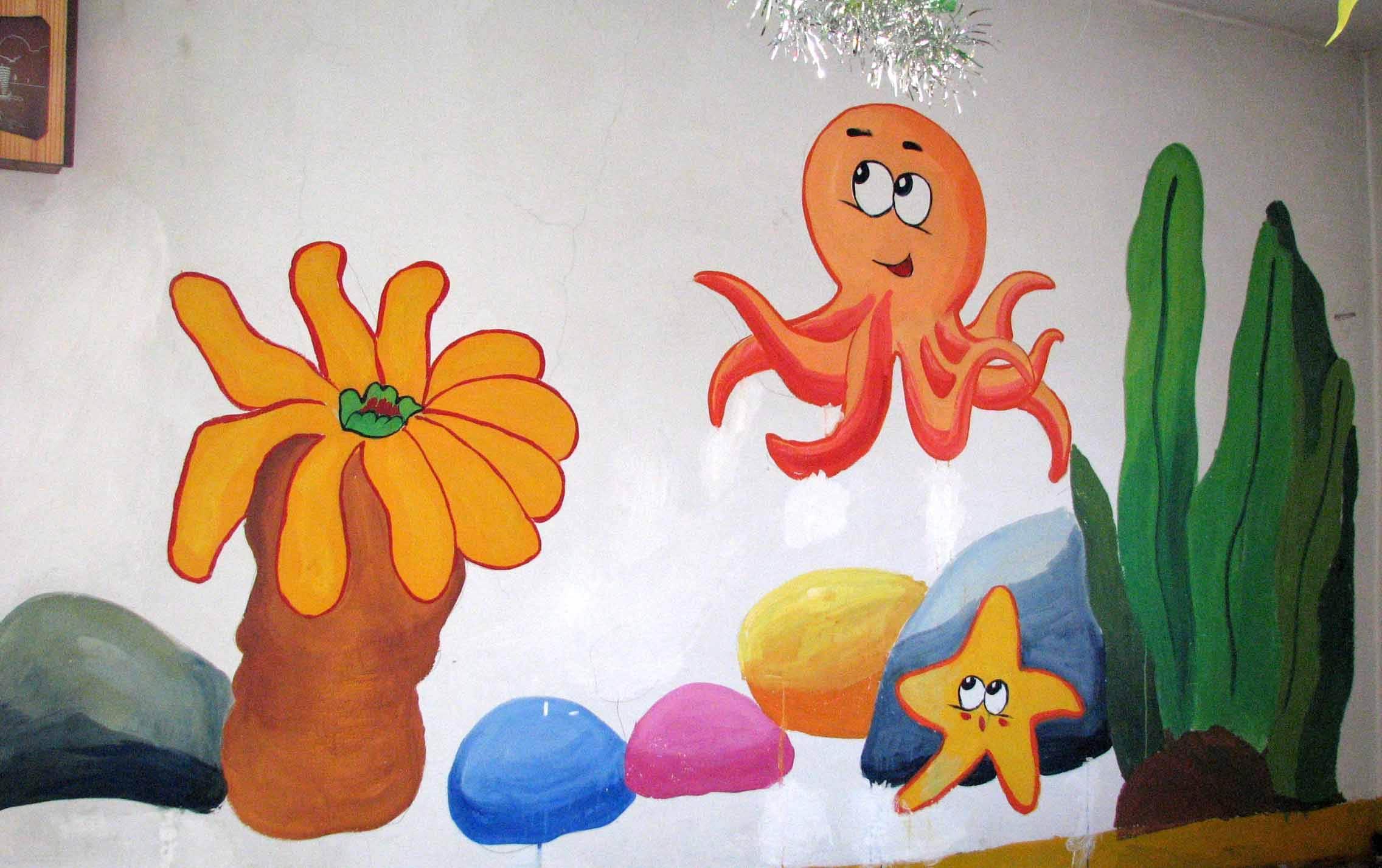 幼儿园墙画绘制用料选择 幼儿园墙面选择什么画好图片