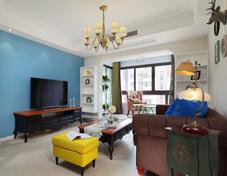 超美的美式两居室设计